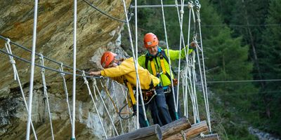 Abstieg Klettersteig / Flying Fox & Seilparcour